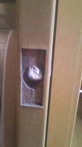 引き戸 鍵取り付け 4